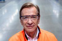Vd:n Håkan Samuelsson i Volvo Cars fabrik i Torslanda. Arkivbild.