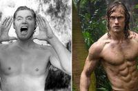 30- och 40-talets Tarzan, spelad av tidigare olympiska simmaren Johnny Weismuller (1904–84), och Tarzan 2016, förkroppsligad av Alexander Skarsgård. Den manliga idealkroppen har blivit allt mer muskulös och med mindre fettprocent, konstaterar Johan Öhman som föreläser för ungdomar om kosttillskott och skeva kroppsideal.