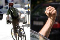 Till skillnad från fotgängare har cyklister inte företräde vid övergångsställen. Det har bilisterna.