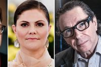 The former head of the academy Horace Engdahl, Crown Princess Victoria of Sweden and Jean-Claude Arnault.