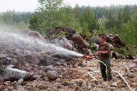 Risk för skogsbrand i nästan hela Sverige