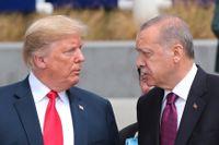 Presidenterna Trump och Erdogan.