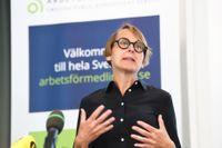 Arbetsförmedlingens analyschef Annika Sundén befarar allt högre bestående långtidsarbetslöshet. Arkivbild