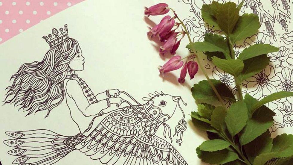 Att få göra en målarbok var från början en dagdröm i sig för illustratören Hanna Karlzon.