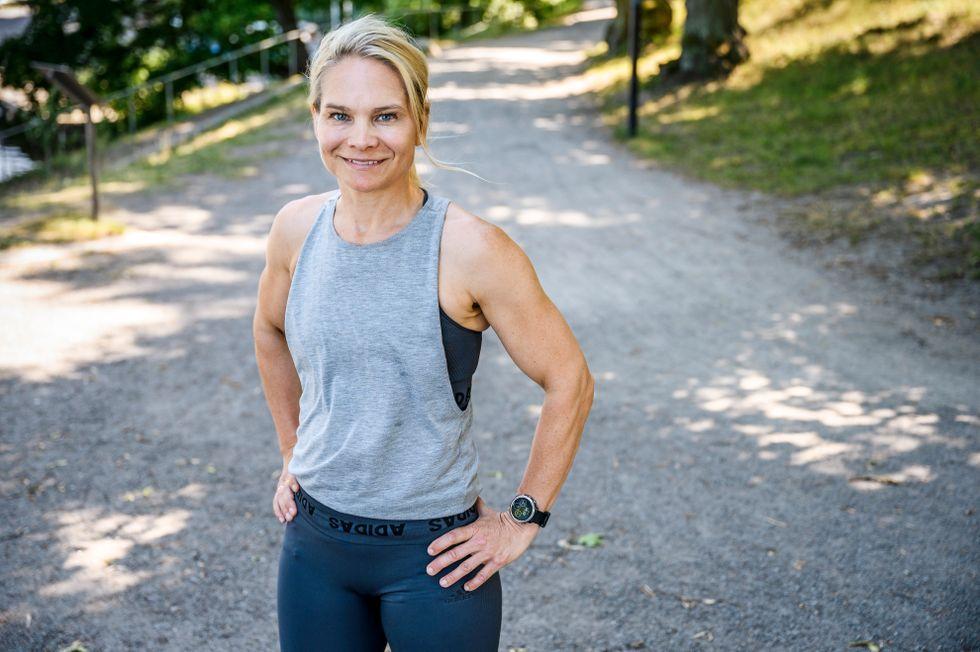 """""""Träna kortare och lugnare när det är som varmast"""", råder Emma Lindblom."""