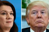 """""""Ett handelskrig mellan Kina och USA skulle slå mot EU och Sverige också"""", säger Ann Linde."""