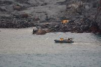 Sökandet efter förolyckade personer pågick i många dagar efter vulkanutbrottet på White Island. Arkivbild.