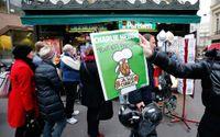 Det var få av alla köande parisare som lyckades få tag på ett nummer av Charlie Hebdo.