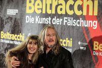 Wolfgang Beltracchi med sin fru och medbrottsling Helene på premiären av filmen om deras karriär som förfalskare.