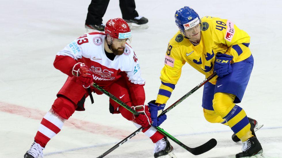 Sverige förlorade öppningsmatchen mot Danmark i ishockey-VM.