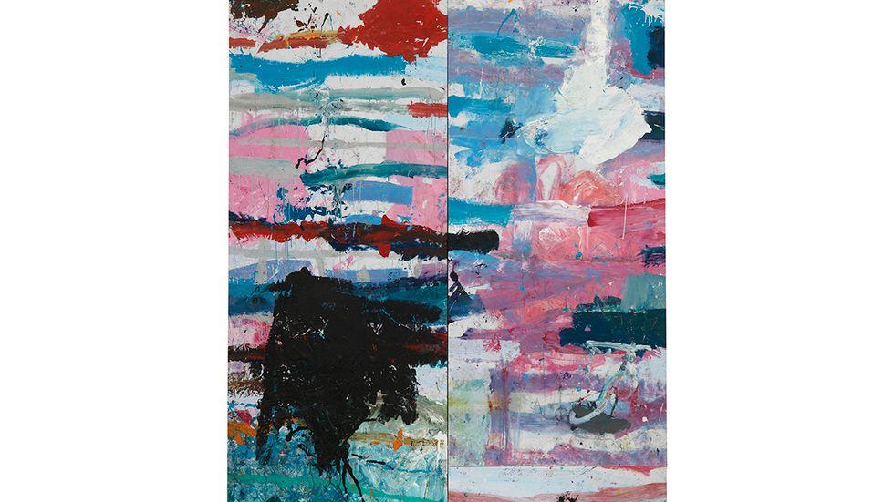 "Jarl Ingvarsson, ""Dubbel Vresros"", 300x247cm, 2016."