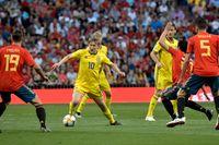 För Emil Forsberg och landslaget väntar nya möten med Spanien i nästa års VM-kval till slutspelet i Qatar. Arkivbild.