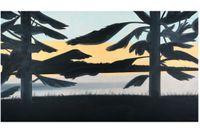 "Alex Katz, ""Sunset 5"", olja på duk, 247 x 488 cm."