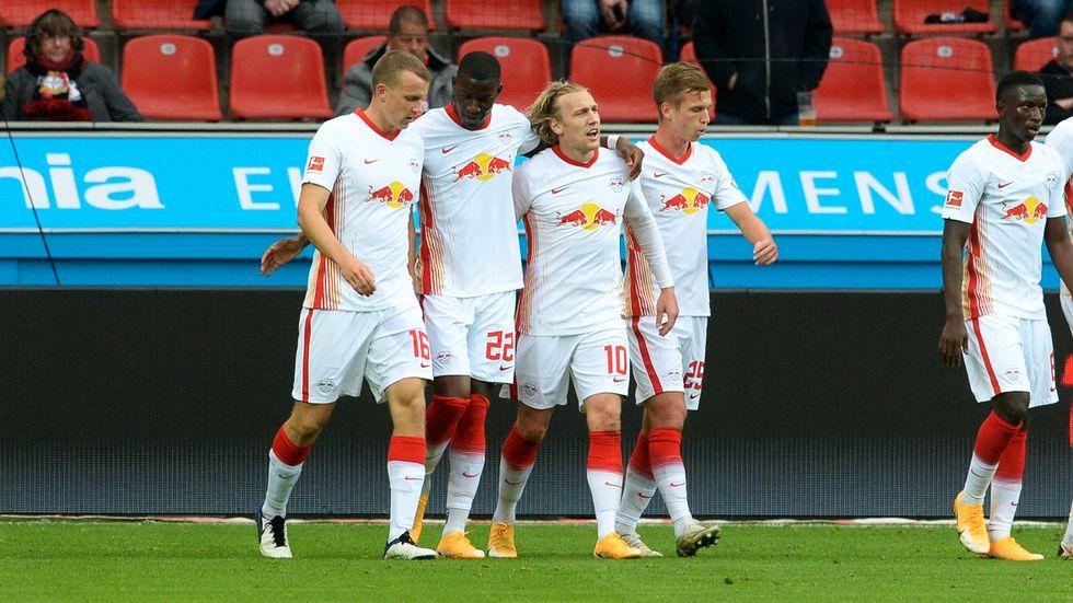 Emil Forsberg har gjort två mål på två matcher i Bundesliga.