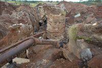 En gruva i Kongo-Kinshasa. Bilden är från ett annat tillfälle. Arkivbild.