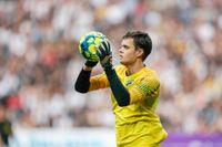 AIK:s målvakt Oscar Linnér missar matchen mot Falkenberg. Arkivbild.