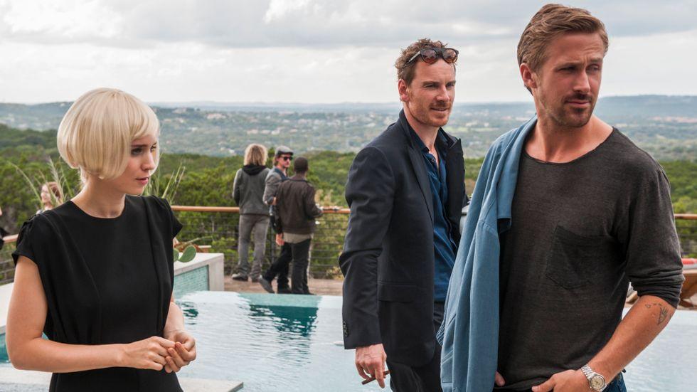 Rooney Mara, Michael Fassbender och Ryan Gosling.