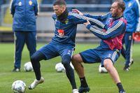 Marcus Berg, till vänster, och Andreas Granqvist var båda med och förhandlade fram det nya avtalet.