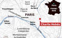 Här ligger tidningen i Paris. Grafik: SvD