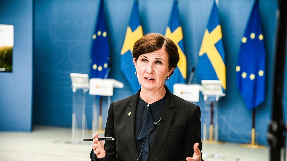 Miljöpartiets språkrör Märta Stenevi.