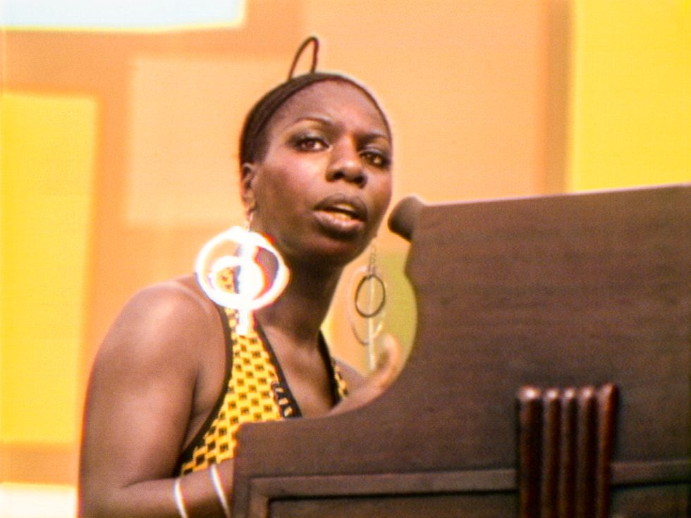 "Nina Simone på Harlem Cultural Festival 1969, i dokumentären ""Summer of Soul."""