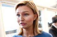 """"""" Att låta Kinas ambassadör vara kvar sänder signaler om vilket agerande Sverige accepterar"""", säger KD:s partiledare Ebba Busch Thor."""