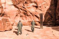 Den mystiska metallpelaren hittades i Utah, USA.