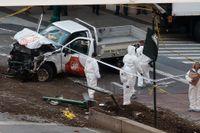 Myndigheter granskar bilen som användes i terrordådet i New York den 31 oktober.