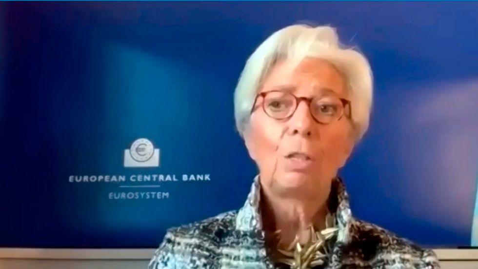 Ordföranden för den europeiska centralbanken ECB Christine Lagarde höjer inte räntan.
