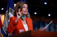Representanthusets mäktiga talman, demokraten Nancy Pelosi, vill få klarhet om uppgifter om ryska skottpengar på amerikanska soldater. Arkivbild.