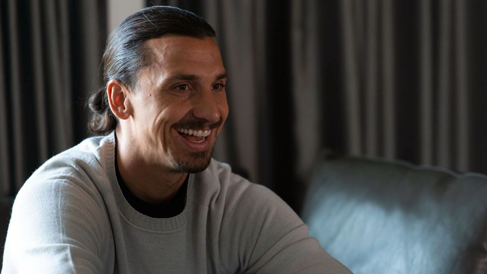 """Zlatan Ibrahimovic i en intervju om den nya boken """"Jag är fotboll""""."""