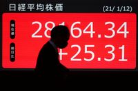 Nikkei i Tokyo steg något under onsdagsmorgonen. Arkivbild.