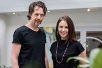"""Niklas Aronsson och Carolina """"Lina"""" Gebäck som driver Linas Matkasse."""