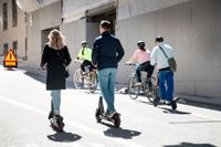 I en ny studie på Sahlgrenska universitetssjukhuset är skador med elsparkcyklar i fokus. Arkivbild.