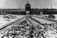 Ingången till Auschwitz.