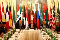 Ett tjugotal utrikesministrar möttes i Wien i lördags.