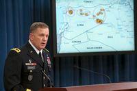 Vid en presskonferens på Pentagon informerade generallöjtnant William Mayville, Jr om bombingarna av Khorasangruppen i Syrien.