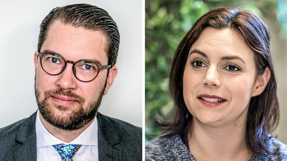 Jimmie Åkesson och Paula Bieler, Sverigedemokraterna.