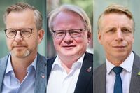 Mikael Damberg, Peter Hultqvist och Per Bolund.