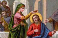 Maria Magdalena smörjer Jesus med dyrbar parfym.
