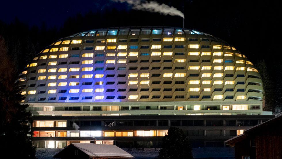 Hotellet i Davos där 3000 Näringslivstoppar möts.