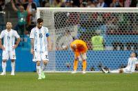 Deppigt i Argentina efter 3–0-förlusten mot Kroatien.