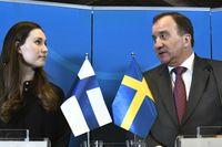 Finland och Sverige – här i form av statsministrarna Sanna Marin och Stefan Löfven – trycker på för minst 55 procent i utsläppsminskning i EU till år 2030. Arkivfoto.