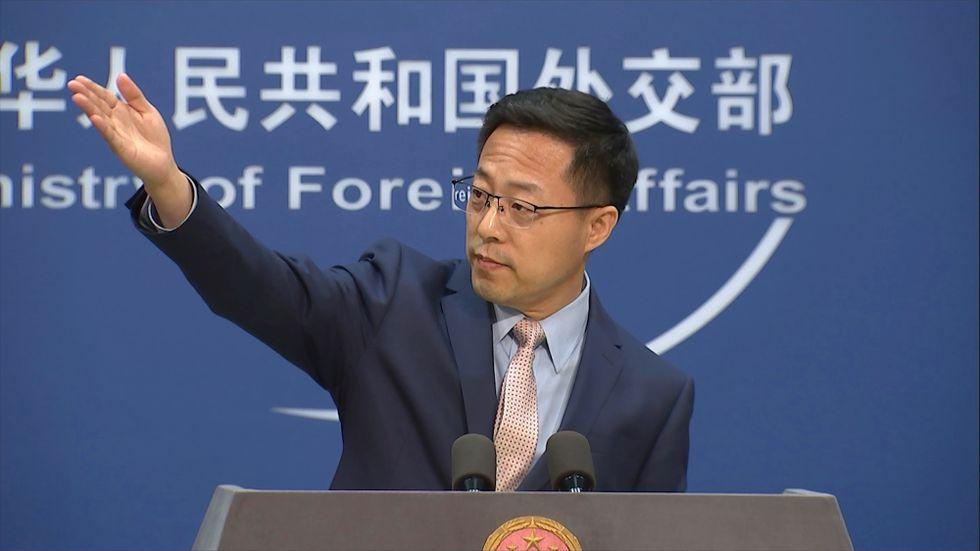 Zhao Lijian, talesperson för Kinas utrikesdepartement. Arkivbild.