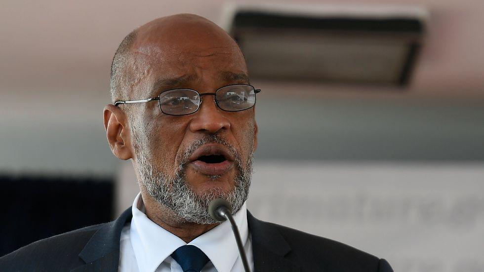 Haitis premiärminister Ariel Henry misstänks av landets chefsåklagare för inblandning i mordet på president Jovenel Moïse i juli i år. Arkivbild.