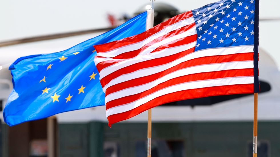 Tillväxten andra kvartalet var bättre än väntat i EU och lägre än väntat i USA. Men när det kommer till återhämtningen efter pandemin är USA långt före. Arkivbild.