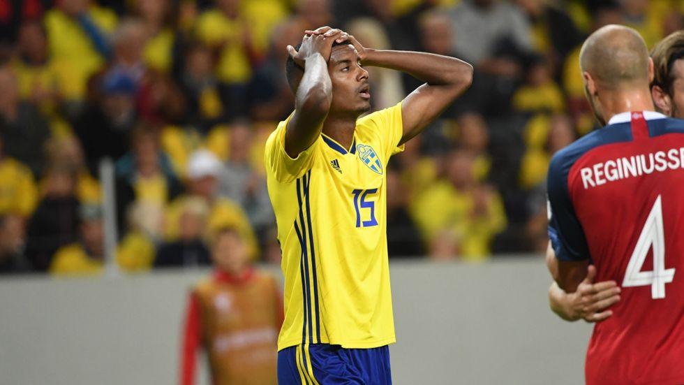 Alexander Isak var inte helt nöjd efter 1–1 mot Norge.