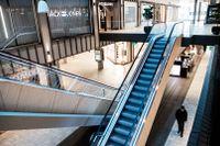 Gallerian i centrala Stockholm är folktom.