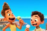 """Vännerna Alberto och Luca i Pixars senaste film """"Luca""""."""