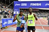 Nigussie Sahlesilassie slog nytt banrekord på Stockholm Marathon.